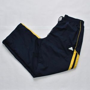 Adidas Blue and Yellow Track Pants. Men's Size XL